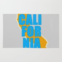 california Area & Throw Rugs featuring California by Julie