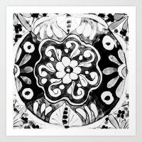 Black and White Talavera Eleven Art Print