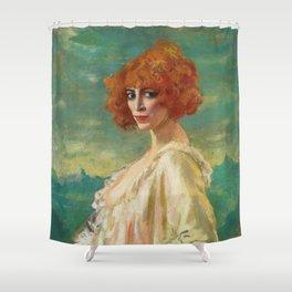 The Marchesa Casati by Augustus Edwin John (1919) Shower Curtain