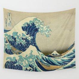 The Great Wave Off Kanagawa by Katsushika Hokusai (c. 1830) Wall Tapestry