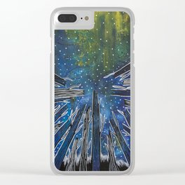 Excuse Me While I Kiss the Sky Clear iPhone Case