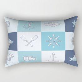 Adorkable Nautical Cartoons Rectangular Pillow