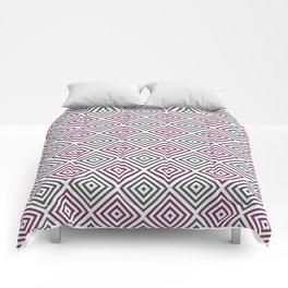 Burgundy, gray and white diamond rhombus pattern Comforters