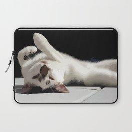Upside Down Meow Laptop Sleeve