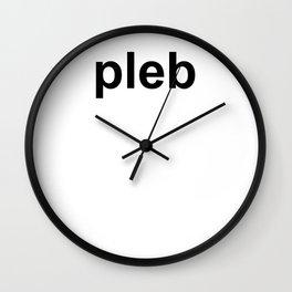 pleb Wall Clock