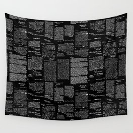 George Washington's Letters // Black Wall Tapestry