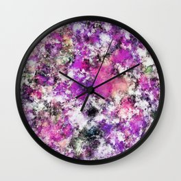 Reflecting the purple water Wall Clock