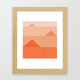 Abstraction_Triangles_001 Framed Art Print