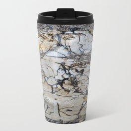 Natural Distressed Beach Drift Wood Textures Metal Travel Mug