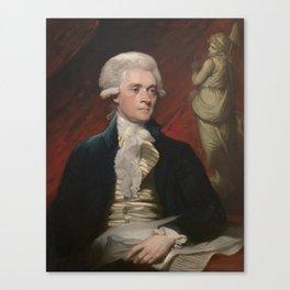 Thomas Jefferson Painting Canvas Print