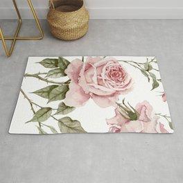 Pink Roses – Original Watercolor Rug