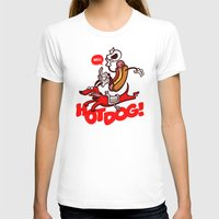 hot dog T-shirts featuring Hot Dog! by Gimetzco's Damaged Goods