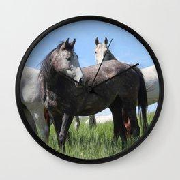 Thoroughbred Arab Cross Photography Print Wall Clock