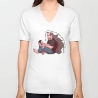 greg guillemin V-neck T-shirts featuring Steven Universe: Greg and Steven by Liv Moy