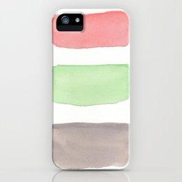 Coral Mint Grey Block iPhone Case