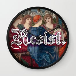 Resist. Wall Clock