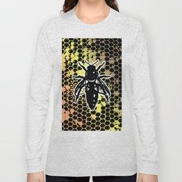 Geometrical Honeycomb & Bee Long Sleeve T-shirt