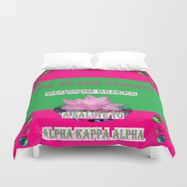 108 Years Strong Blossom Belles - A Salute to Alpha Kappa Alpha Duvet Cover