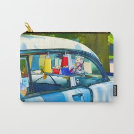 Food And Drink On Car Carry-All Pouch