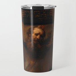 Rembrandt - Moses with the Ten Commandments (1659) Travel Mug