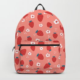 Wild Strawberries Red Backpack