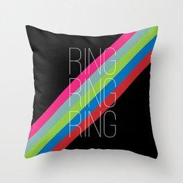 ring ring ring Throw Pillow