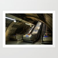 subway Art Prints featuring Subway by Svetlana Sewell