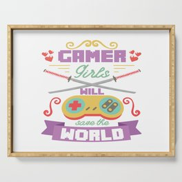 Funny Gamer Gaming Geek Nerdy Accessories Gift Serving Tray