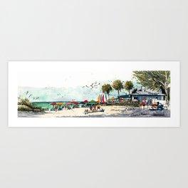 Coquina Beach on Anna Maria Island Art Print