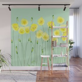 Yellow Wildflowers II Wall Mural