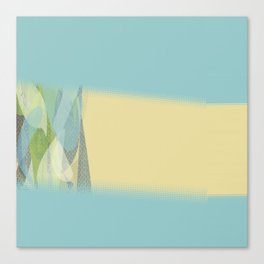 Teal Yellow Multi Pattern Collage Design Canvas Print