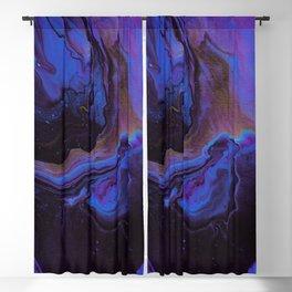 Golden Purple Blue Galaxy Blackout Curtain