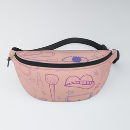 Coral Pink Trendy Women's Accessories Fashion Pattern Fanny Pack