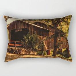 Honey Run Covered Bridge Rectangular Pillow