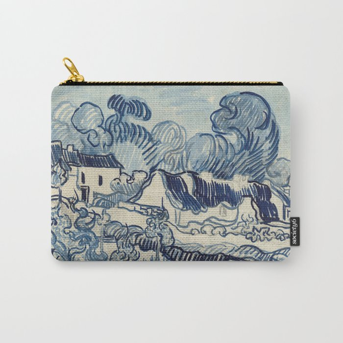 """Vincent van Gogh """"Landscape with Houses"""" Carry-All Pouch"""