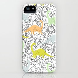 Dinosaur Ghosts Pattern iPhone Case
