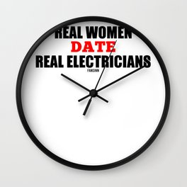 Electricians woman funny saying gift Wall Clock