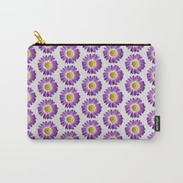 Purple Yellow Daisy Pattern,Retro Carry-All Pouch
