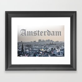 Amsterdam City View Framed Art Print