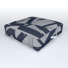 3D Futuristic GEO Lines X 14 Outdoor Floor Cushion