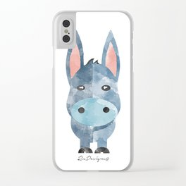 Water Colour Baby Donkey Clear iPhone Case