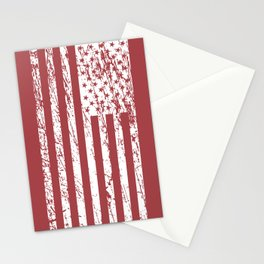 The Flag of the  USA with Rusty Effect II Stationery Cards