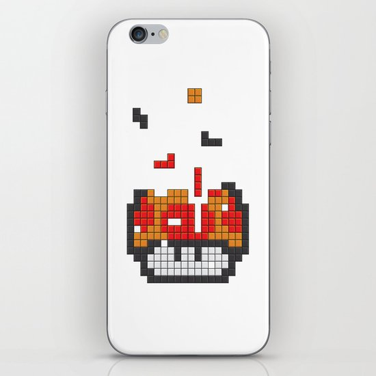 Super Mario Mushroom Tetris iPhone & iPod Skin