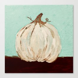 the white pumpkin Canvas Print