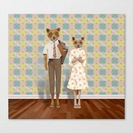 Mr. & Mrs. Fox Canvas Print