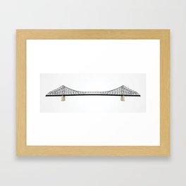 Brisbane Icons: Story Bridge Framed Art Print