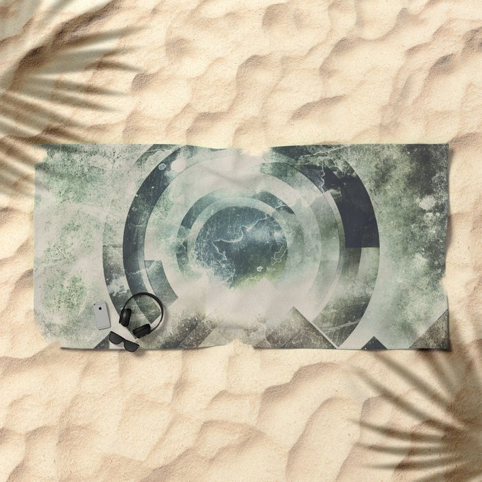 Moon travel Beach Towel