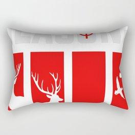 Four Seasons Of Hunting deer, elk, turkey, duck Rectangular Pillow
