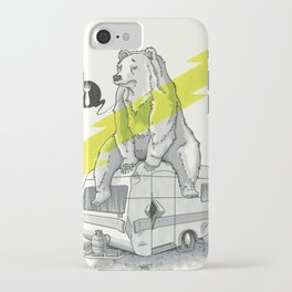 Camping Bear iPhone Case