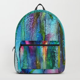 Rainbow Rain - Alcohol Ink Painting Backpack